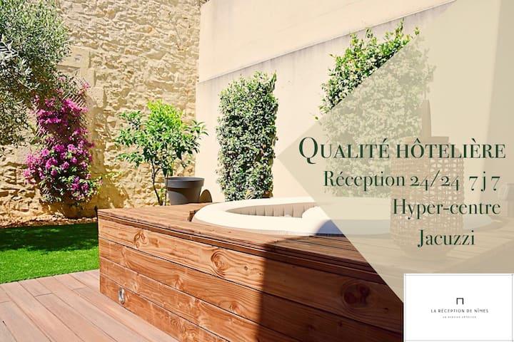 Superbe Appt T2 , Jardin , Jacuzzi, calme et emplacement top