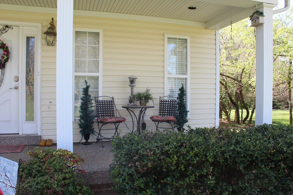 Front porch seating area.
