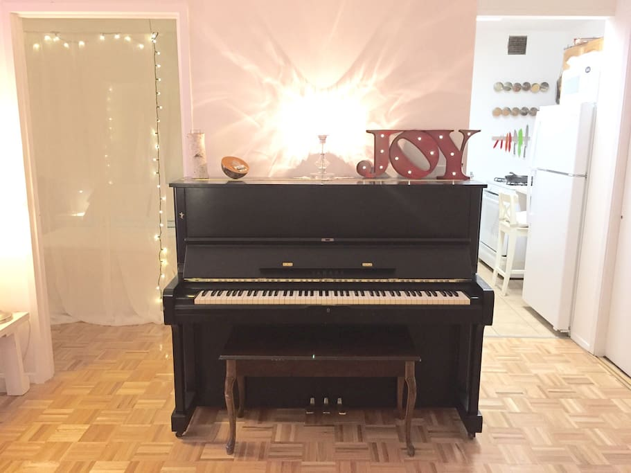 The piano is the very finest quality.  It is a Yamaha U1 series from 1981, and has a warm tone.  It really makes the house a home!