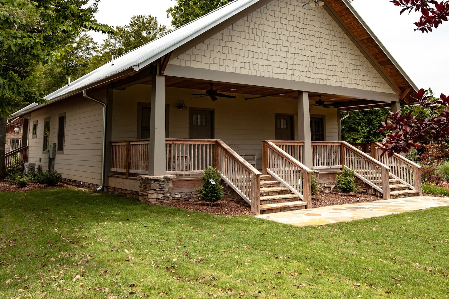 Front entrance to Bungalows #1 and #2