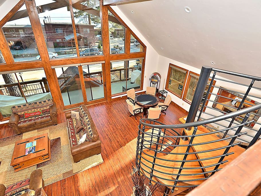 Relax in the expansive Great Room or on the large front deck.