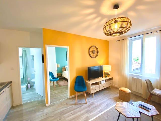 Appartement 5 neuf, chaleureux au cœur d'Annemasse