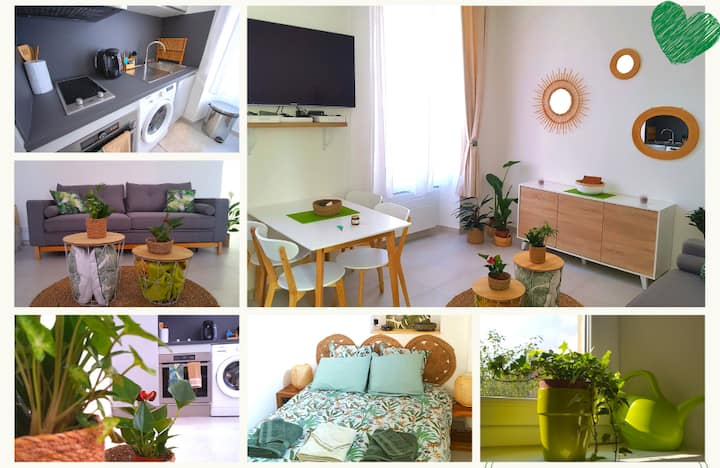 Superb 2-roomed refurbished 100 meters from beach