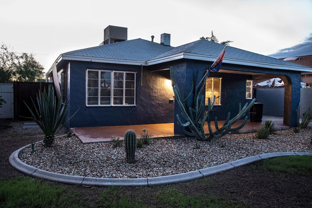 The Charming Bungalow at Dusk!