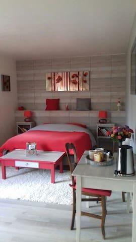 jolie chambre lumineuse - Saint-Martin-de-la-Place - Casa