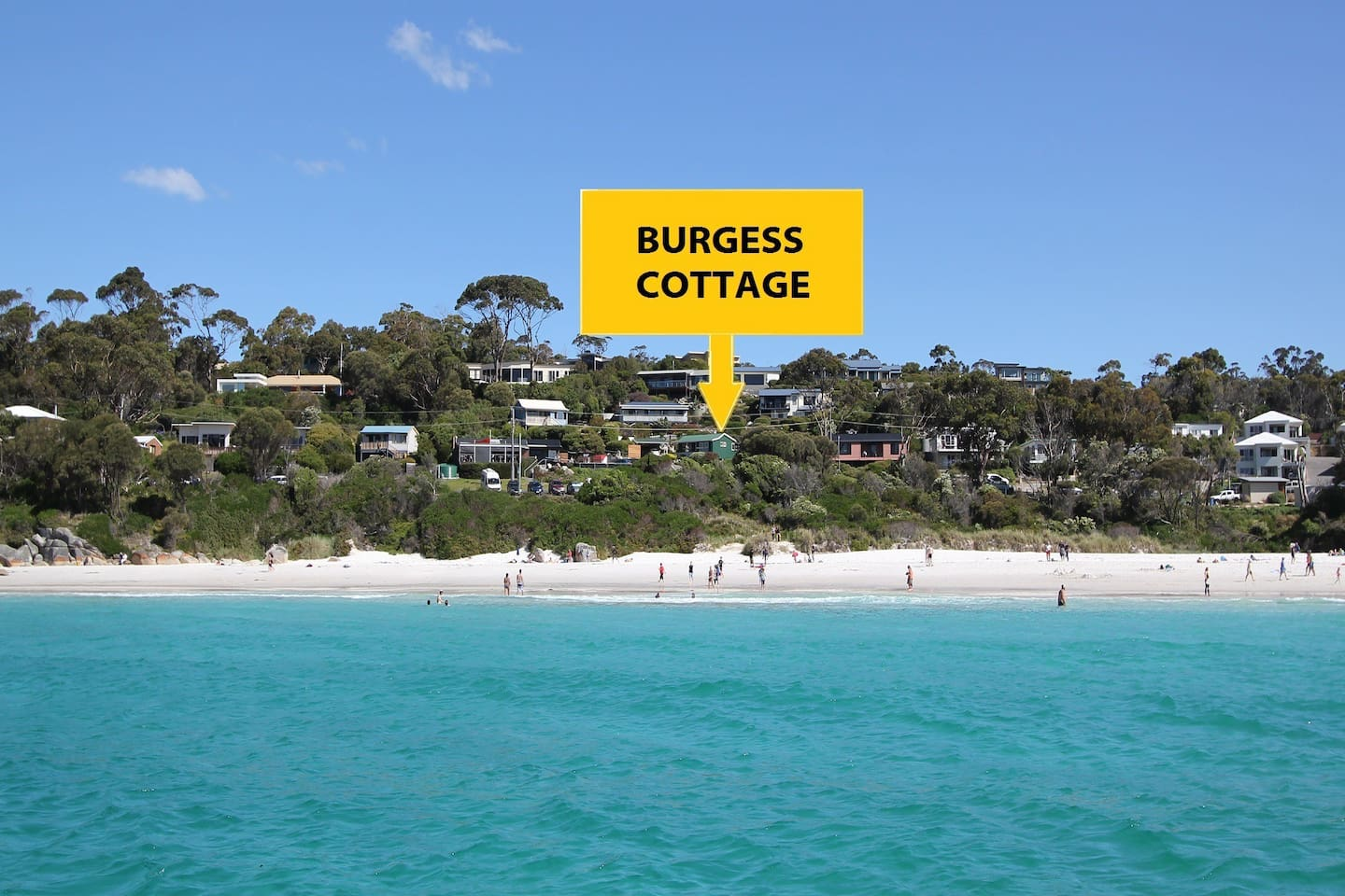 Burgess Cottage from the water