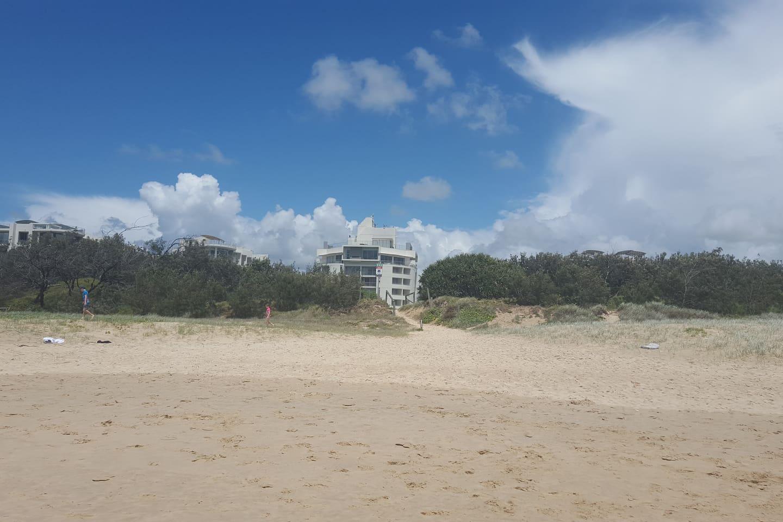 Beachfront location.