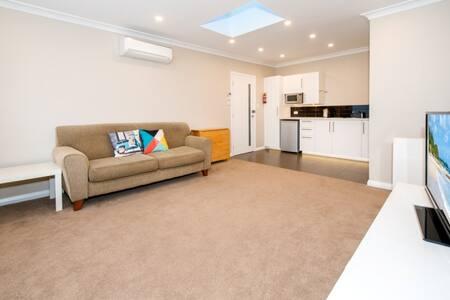 Modern, garden apartment