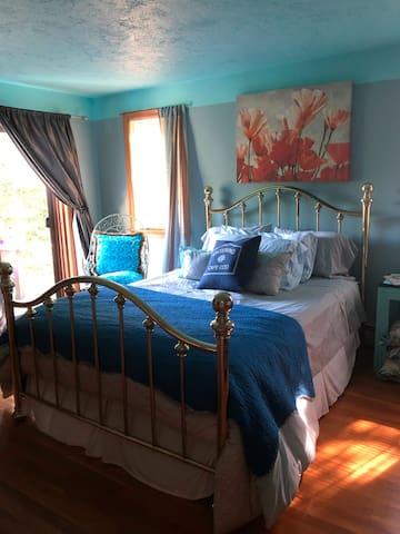 Bedroom #1: Comfortable bedroom and private bath - 1st floor.