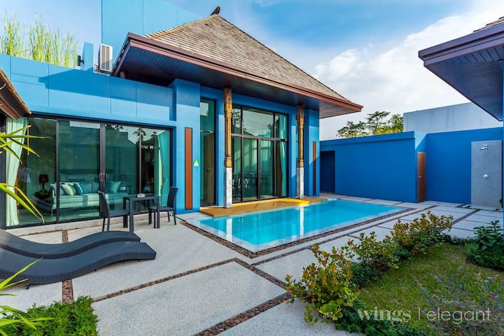 VW15: Wings Layan 1BR Private Pool-Full Kitchen
