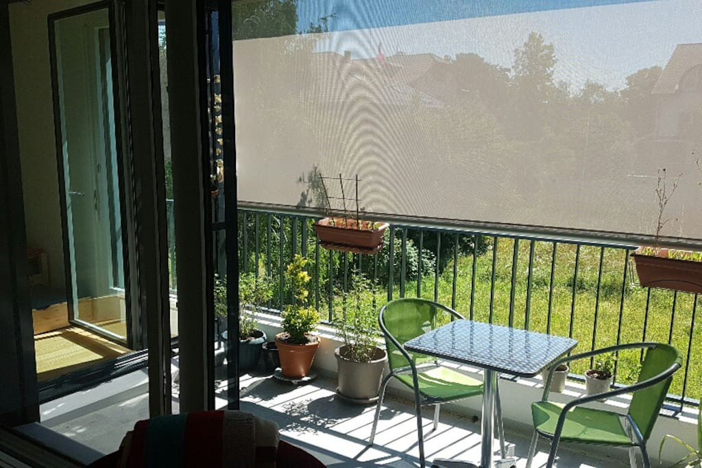 Sunny with balcony and lawn