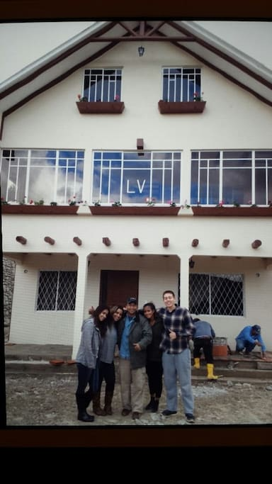 Front of the house with guests