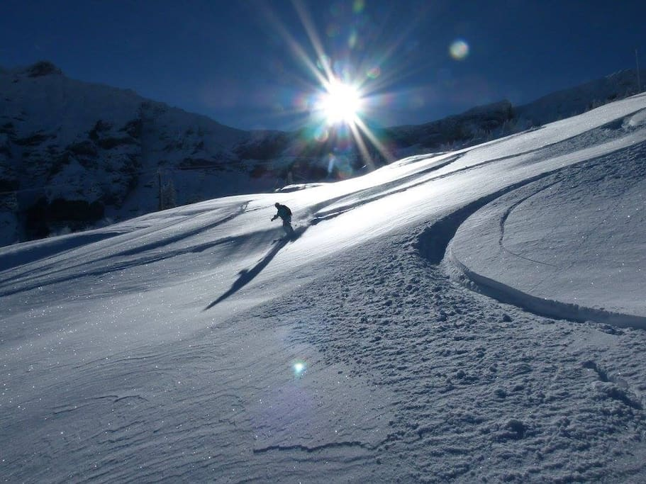 First tracks of the season! 13 November......Mègeve