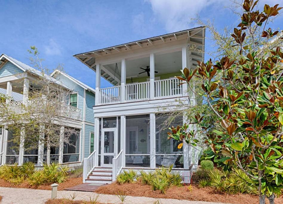 Large Porches with Comfortable Seating and Porch Swing