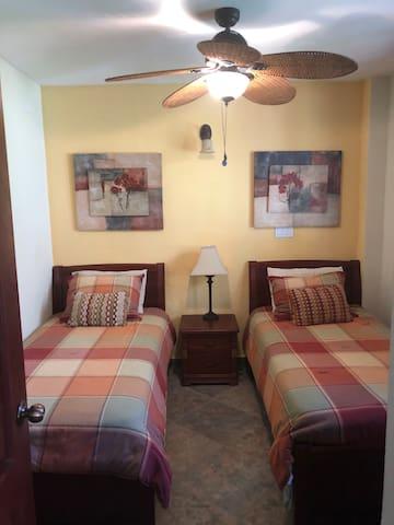 Lower level twin bedroom
