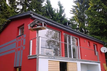 A wonderful holiday home in the Thuringian Forest - woodstove, balcony, patio, garden