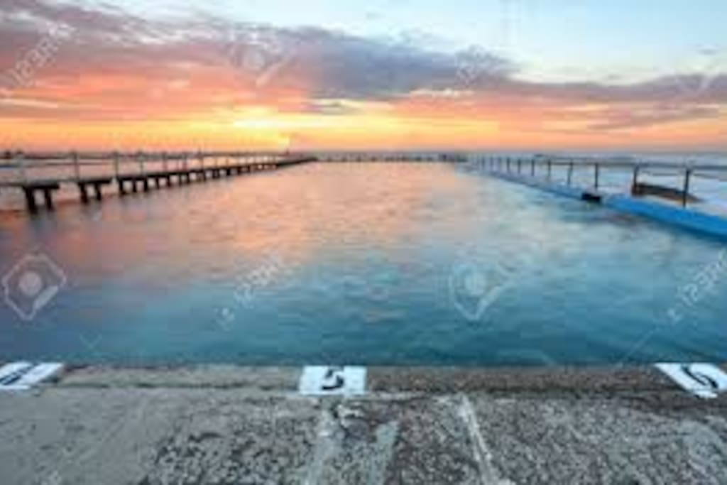 Watch beautiful sunset while you swim in the ocean pool....