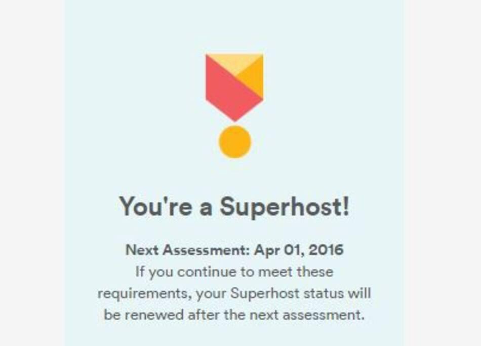 Superhost - 2016!