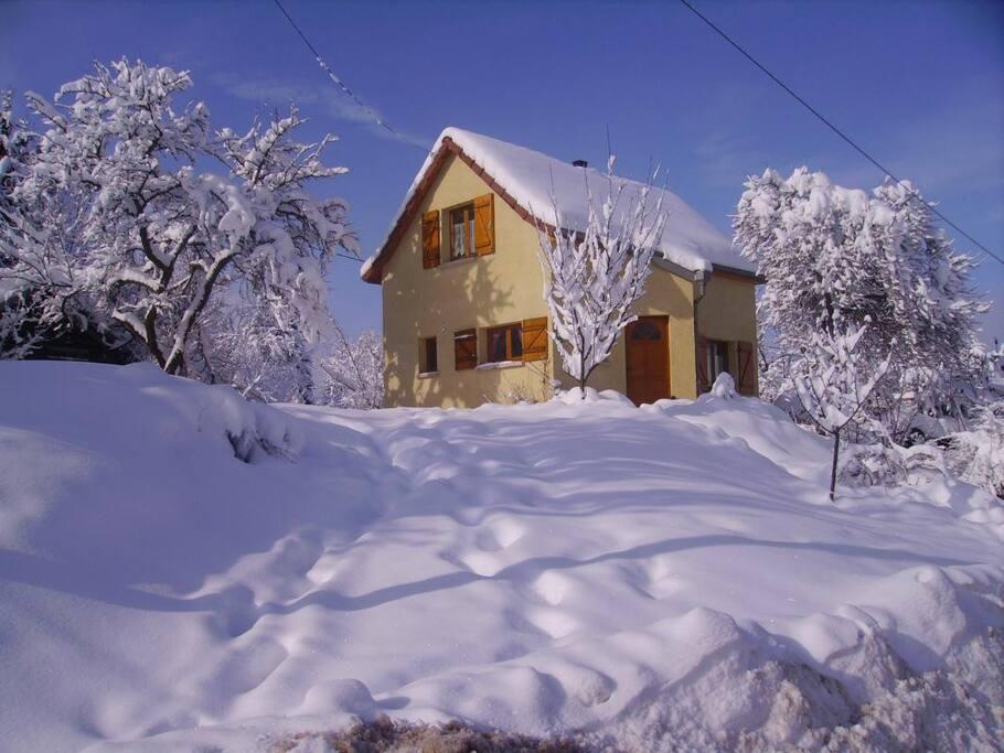 Neige en hiver.