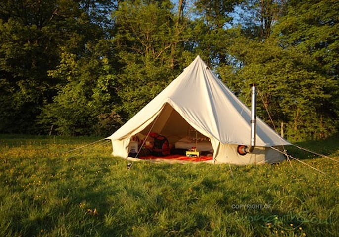 Bell tent in the Forest (Red) - Góis - Tent