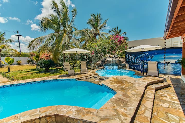 Beach Villa with Pool and Jacuzzi - Boca Chica, DR - Boca Chica - Villa