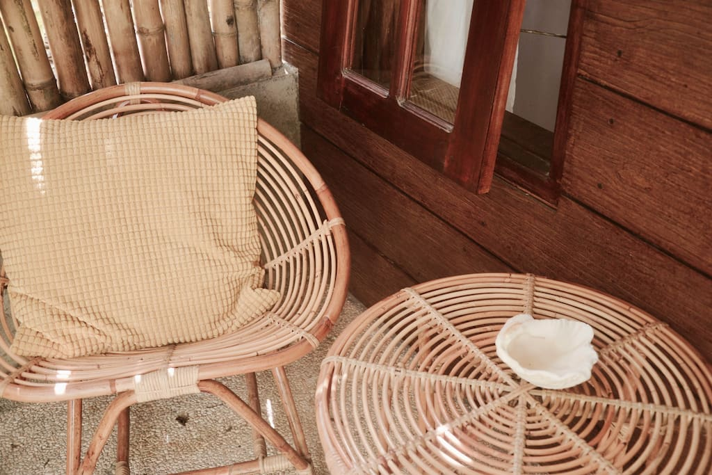 Private terrace where you will have your healthy breakfast