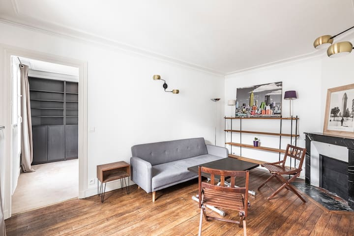 Cosy 1 bedroom apartment in the heart of 17th Batignolles - Bail Mobilité
