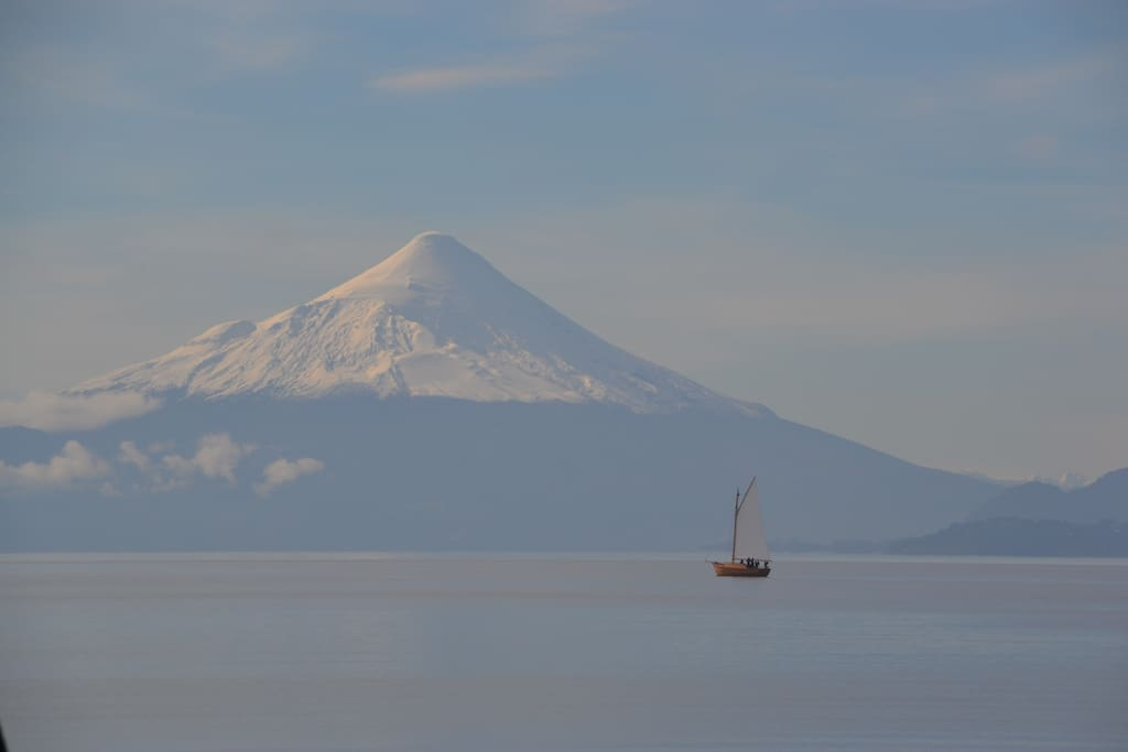 Nice view from the Osorno Volcano and Llanquihue Lake.