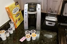Free coffee for guests to enjoy with a Keurig!