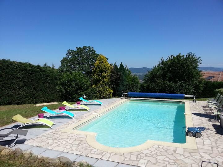 Villa Plateau de Gergovie 10 min Clermont Fd