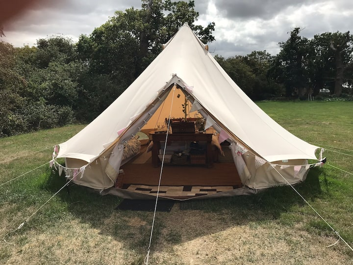 Relax in our beautiful bell tent