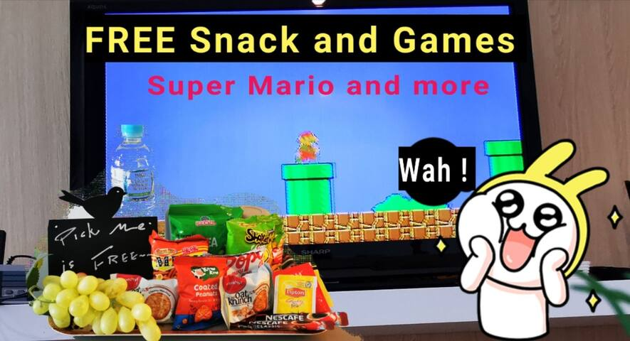 Hot!  100mbps Wifi !! FREE 620 game and Snacks