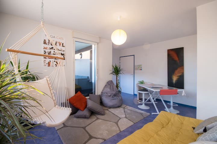 Appart' ZEN ~ T1 BIS + Terrace 8m² + Parking Space - Saint-Brieuc - Huoneisto