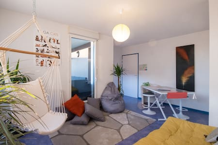 Appart' ZEN ~ T1 BIS + Terrace 8m² + Parking Space - Saint-Brieuc - Apartamento