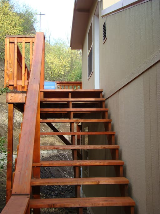 back steps and deck