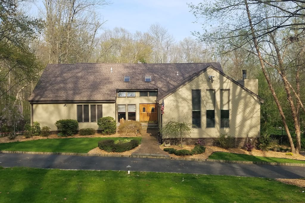 A modern 4,200SF home on 2 wooded acres.