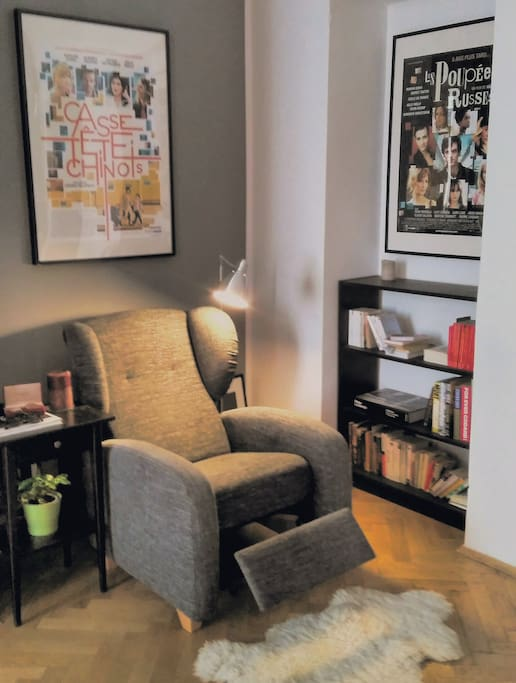 Reading corner in the living room