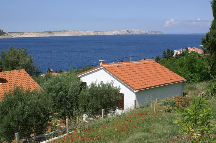 One bedroom house with terrace and sea view Stara Novalja, Pag (K-4152)