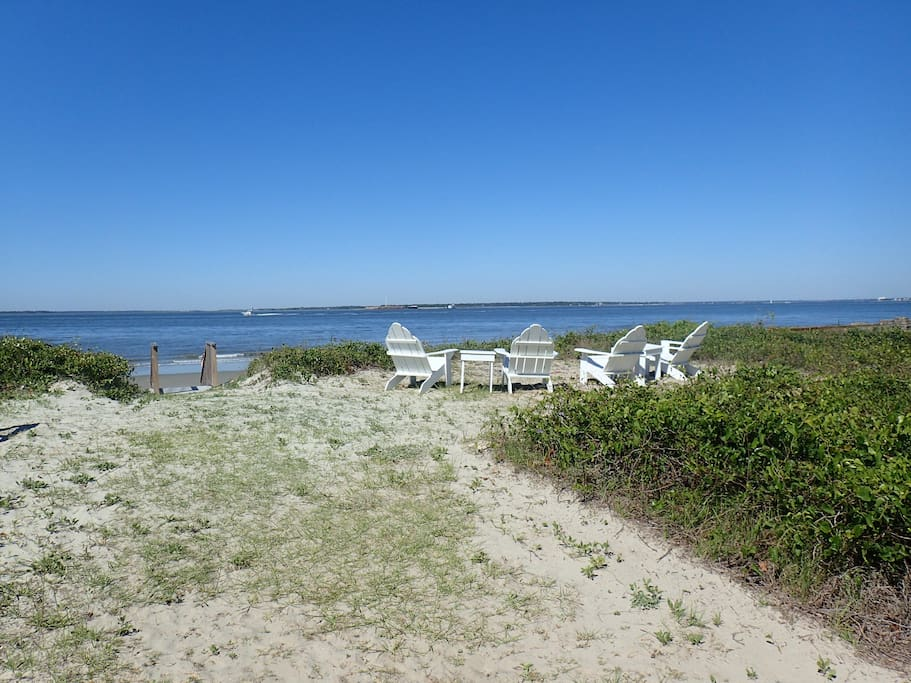 Adirondack Chairs Near Beach