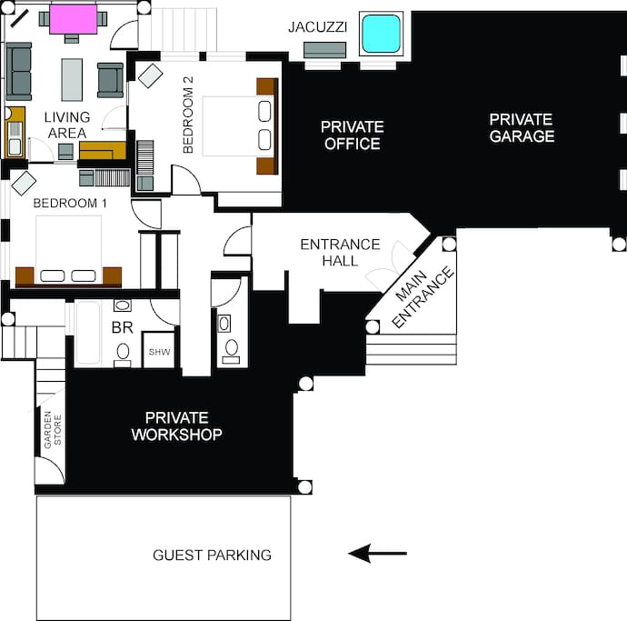 Floor plan of area you will occupy