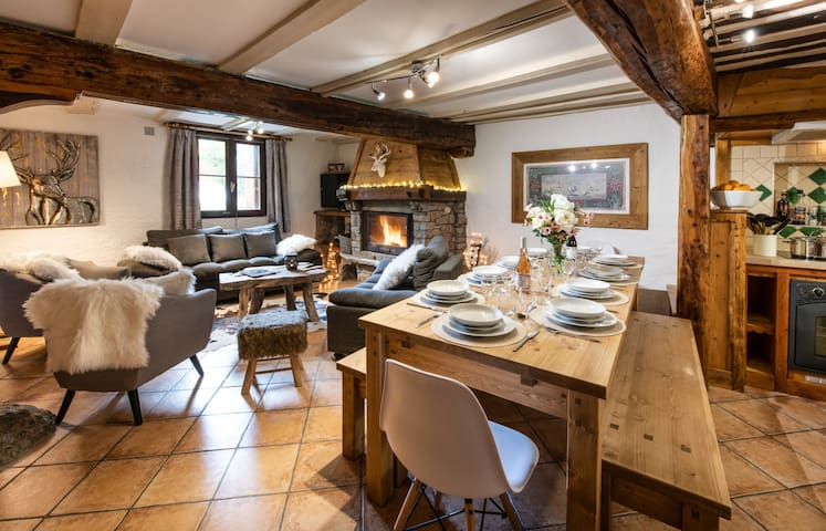 Ground floor apartment of  Chalet les Clarines , ski in ski out.