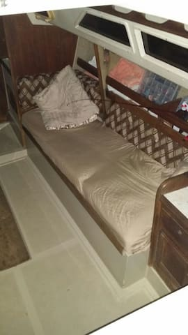 This is one of the bunks in the main salon.