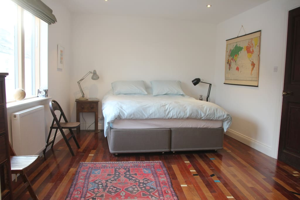 Super kingsize bed and spacious bedroom