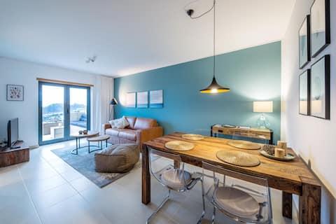 maresoul- lägenhet mar- utanför lounge havsutsikt
