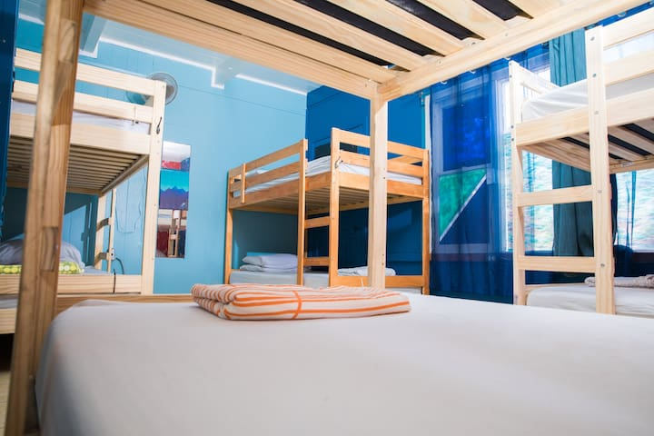 Ocean Front Surf Hostel - Bed in 4 Bed Mixed Room