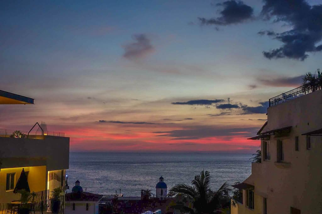 Nice sunset view from balcony
