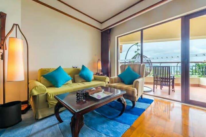 三亚亚龙湾天域度假二区一房一厅豪华海景家庭套房您在亚龙湾海边五星级的家