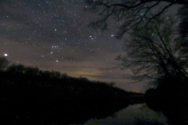 Constellations over the North Tyne river.