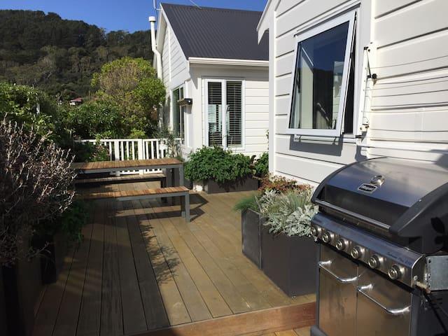 Mt Vic: See tuis in pohutakawa tree - Wellington - Bed & Breakfast