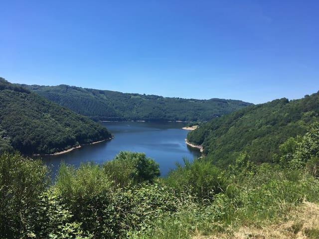 Aubrac entre lac et montagne pres Pierrefort 15230